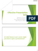 ENGI9100 Effective Presentation Skills