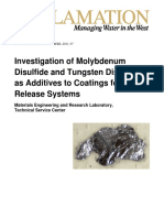 Investigation of Molybdenum Disulfide and Tungsten Disulfide as Additives to Coatings for Foul Release Systems