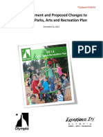 Public Comments and Proposed Changes to Draft 2016 Parks, Arts and Recreation Plan