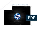 Configure RAID Using HP Array Configuration Utility