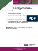 ESTRATEGIA DE INCIDENCIA EN POLÍTICAS PÚBLICAS PARA LAS COOPERATIVAS DE AMÉRICA LATINA
