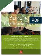 school age rhythm   rhyme