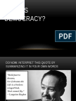 democracy sara holbook ppt