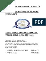 New Protocol of Anemia