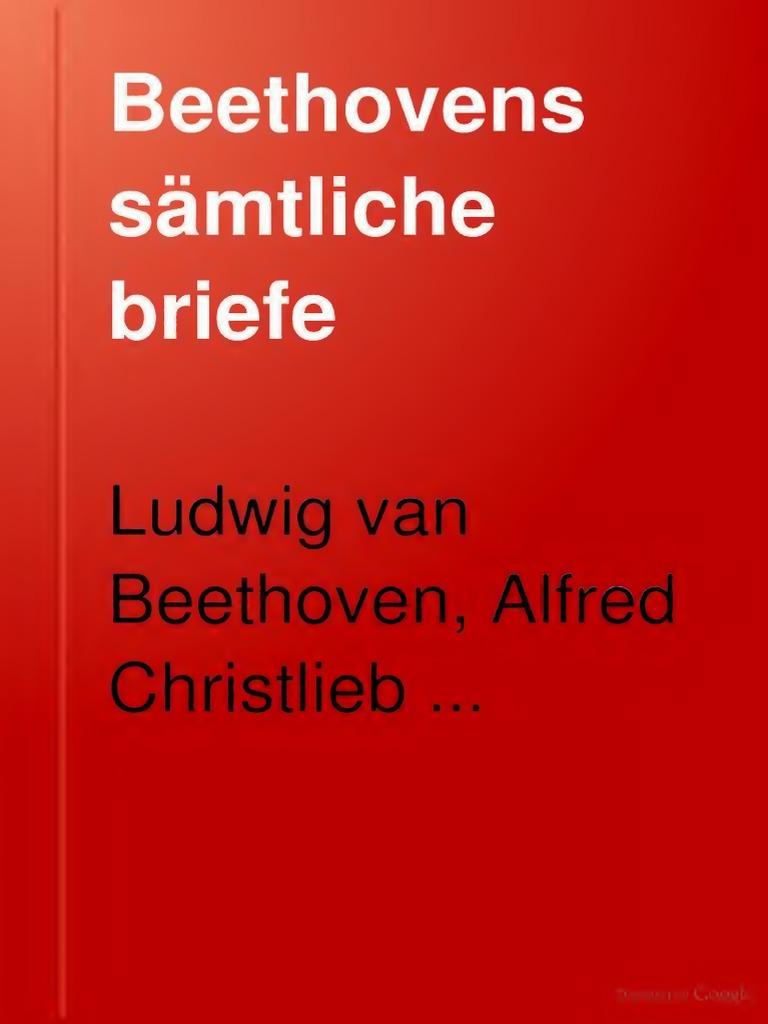 Beethovens Samtliche Briefe 12 12