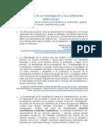 Metodología de La Investigación y Sus Diferentes Definiciones