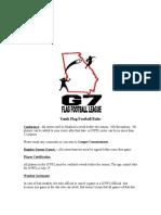 G7 Flag Football Rules 2016