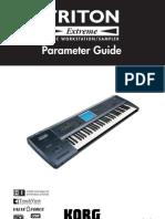 Korg Triton Extreme Parameter Guide
