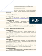 Características Del Adolescente Según Piaget