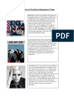 Analysis of Existing Magazine Titles