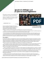Patxi López aboga por el «diálogo» y el «entendimiento» para la nueva legislatura