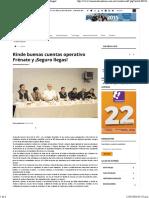 05-01-16 Rinde Buenas Cuentas Operativo Frénate y ¡Seguro Llegas!