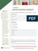 2016 Water Heater Rebate