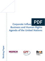 Corporate Influence on the Business and Human Rights Agenda