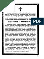 nekrolog a. karadjordevicu