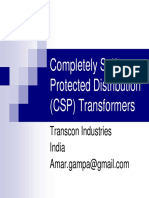 Completely Self Protected Distribution (CSP) Transformers