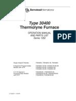 Mufla Thermolyne F30400 Manual de Operacion