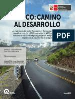 Desarrollo vial, puentes, fibra óptica