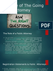 The Role of the Going Public Attorney