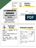 D-1 Introduccion a Los Condensadores