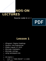 C++ Hands-on Lectures