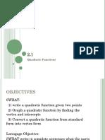 2.1 Quadratics Notes