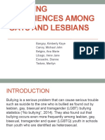 Bullying Experiences Among Gays and Lesbians