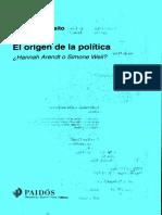 Esposito Roberto El Origen de La Politica