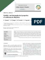 Stability of Azitromisin