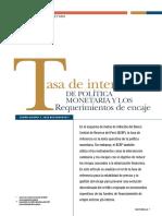 N°01 -TASA DE INTERES DE POLITICA MONETARIA