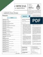 Boletín Oficial de la República Argentina, Número 33.295. 13 de enero de 2016