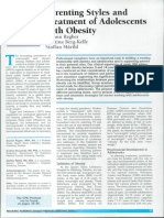 Parenting Styles and Obesity Article