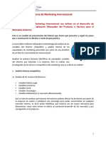 Tarea de Marketing Internacional