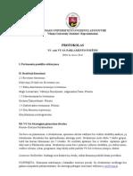VI-ojo VU SA Parlamento posėdžio protokolas [03-26]