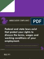 Ambassador Guide Compliance
