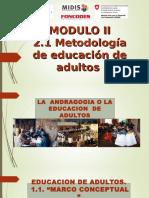 II 1 Metodologia de Educacion de Adultos