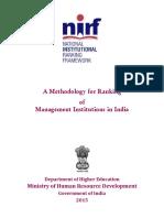 Ranking Framework for Managment Institutions