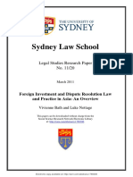 Foreign Investment and Dispute Resolution Law and Practice in Asia an Overview