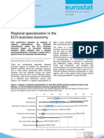 Regional specialisation in the EU's business economy