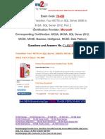 [100% PASS]Braindump2go Latest 70-458 PDF Free 71-80