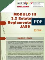 III.2 Estatuto y Reglamento Jass