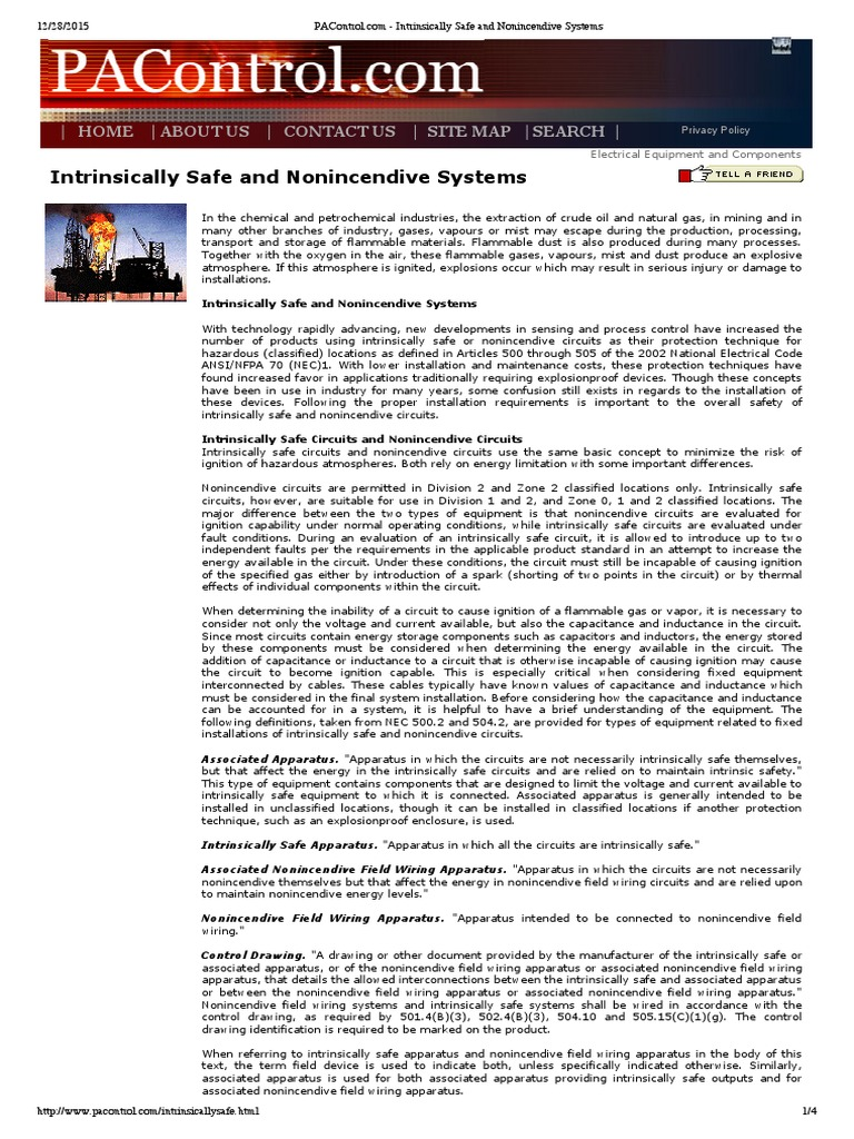intrinsically safe and nonincendive systems electrical wiring rh es scribd com