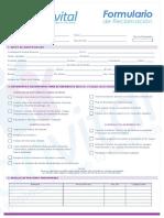 Formulario de Reclamacion 2015