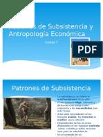Patrones de Subsistencia y Antropología Económica
