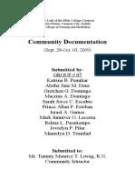 "community output-GROUP ""SYETE"""