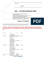 Season 10 Quotes - Criminal Minds Wiki