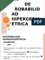 Probabilidad Hipergeometrica