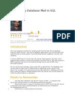 Configuring Database Mail in SQL Server