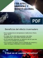 Gases de Efecto Invernadero y Calentamiento Global