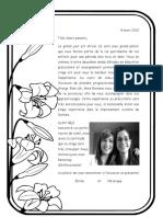 lettre aux parents